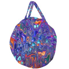 Melted Fractal 1b Giant Round Zipper Tote