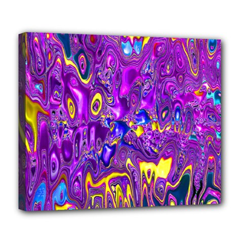 Melted Fractal 1a Deluxe Canvas 24  X 20   by MoreColorsinLife