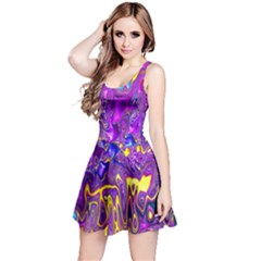 Melted Fractal 1a Reversible Sleeveless Dress