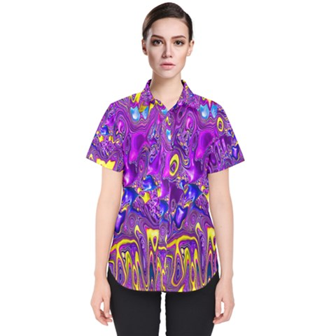Melted Fractal 1a Women s Short Sleeve Shirt by MoreColorsinLife