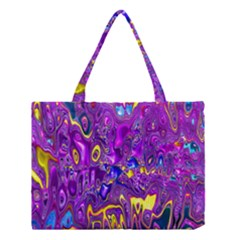 Melted Fractal 1a Medium Tote Bag by MoreColorsinLife