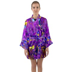 Melted Fractal 1a Long Sleeve Kimono Robe by MoreColorsinLife