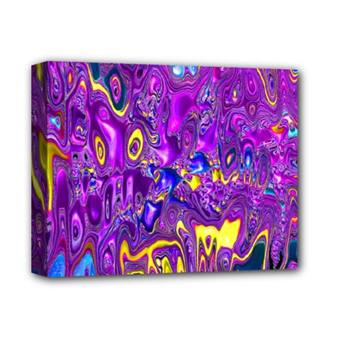 Melted Fractal 1a Deluxe Canvas 14  X 11  by MoreColorsinLife