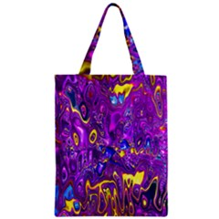 Melted Fractal 1a Zipper Classic Tote Bag by MoreColorsinLife