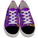 Melted Fractal 1a Women s Low Top Canvas Sneakers View1