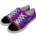 Melted Fractal 1a Women s Low Top Canvas Sneakers View2
