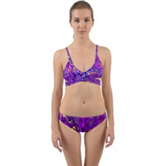 Melted Fractal 1a Wrap Around Bikini Set