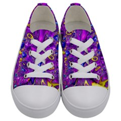 Melted Fractal 1a Kids  Low Top Canvas Sneakers