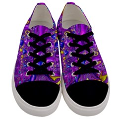 Melted Fractal 1a Men s Low Top Canvas Sneakers