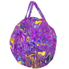 Melted Fractal 1a Giant Round Zipper Tote by MoreColorsinLife