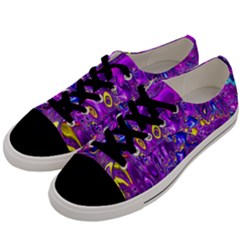 Melted Fractal 1a Men s Low Top Canvas Sneakers by MoreColorsinLife