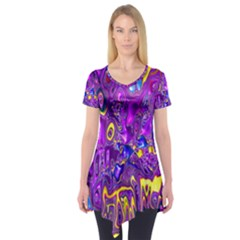 Melted Fractal 1a Short Sleeve Tunic
