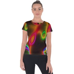 Vibrant Fantasy 4 Short Sleeve Sports Top  by MoreColorsinLife
