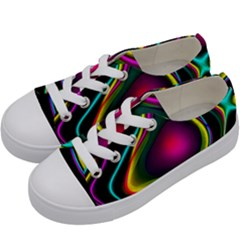 Vibrant Fantasy 5 Kids  Low Top Canvas Sneakers by MoreColorsinLife