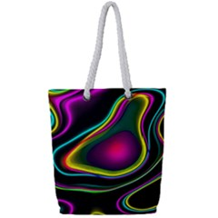 Vibrant Fantasy 5 Full Print Rope Handle Bag (small) by MoreColorsinLife