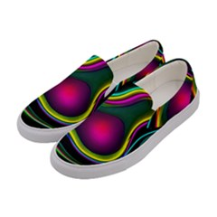 Vibrant Fantasy 5 Women s Canvas Slip Ons by MoreColorsinLife
