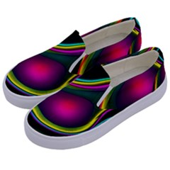 Vibrant Fantasy 5 Kids  Canvas Slip Ons by MoreColorsinLife