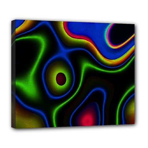 Vibrant Fantasy 6 Deluxe Canvas 24  X 20   by MoreColorsinLife