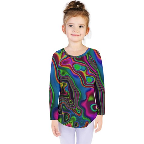 Vibrant Fantasy 6 Kids  Long Sleeve Tee by MoreColorsinLife