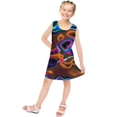 Vibrant Fantasy 8 Kids  Tunic Dress by MoreColorsinLife
