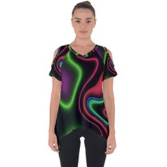 Vibrant Fantasy 2 Cut Out Side Drop Tee