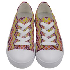 Wave Pattern 3 Kids  Low Top Canvas Sneakers