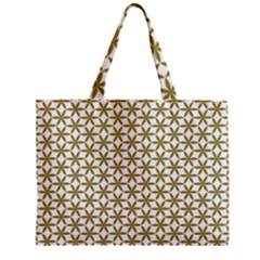 Flower Of Life Pattern Cold White Zipper Mini Tote Bag by Cveti
