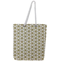 Flower Of Life Pattern Cold White Full Print Rope Handle Tote (large)