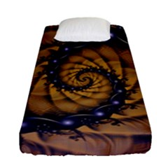 An Emperor Scorpion s 1001 Fractal Spiral Stingers Fitted Sheet (single Size) by jayaprime