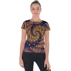 An Emperor Scorpion s 1001 Fractal Spiral Stingers Short Sleeve Sports Top  by jayaprime
