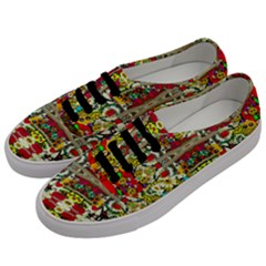 Chicken Monkeys Smile In The Floral Nature Looking Hot Men s Classic Low Top Sneakers by pepitasart