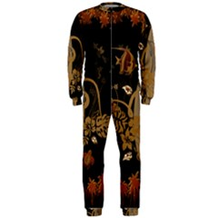 Hawaiian, Tropical Design With Surfboard Onepiece Jumpsuit (men)  by FantasyWorld7