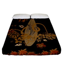 Hawaiian, Tropical Design With Surfboard Fitted Sheet (queen Size) by FantasyWorld7