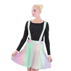 Pattern Suspender Skater Skirt