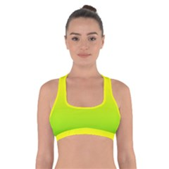 Pattern Cross Back Sports Bra by gasi
