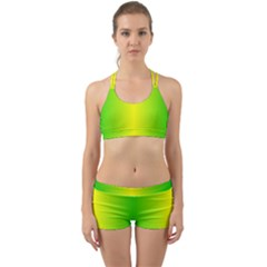 Pattern Back Web Sports Bra Set