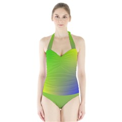 Pattern Halter Swimsuit by gasi