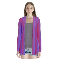 Pattern Drape Collar Cardigan