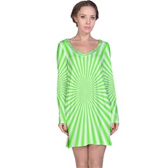 Pattern Long Sleeve Nightdress by gasi