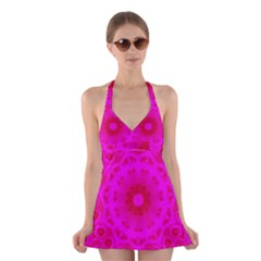 Pattern Halter Dress Swimsuit  by gasi