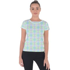 Pattern Short Sleeve Sports Top