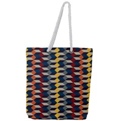 Native American Pattern 3 Full Print Rope Handle Tote (large) by Cveti