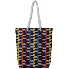 Native American Pattern 3 Full Print Rope Handle Bag (small) by Cveti