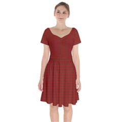 Royal Stuart Tartan Short Sleeve Bardot Dress by PodArtist