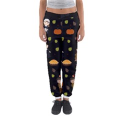 Pilgrims And Indians Pattern   Thanksgiving Women s Jogger Sweatpants
