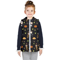 Pilgrims And Indians Pattern   Thanksgiving Kid s Puffer Vest
