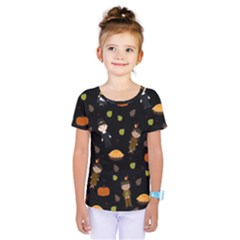 Pilgrims And Indians Pattern   Thanksgiving Kids  One Piece Tee