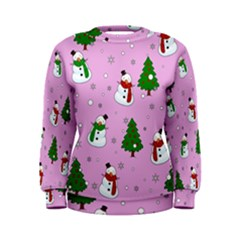 Snowman Pattern Women s Sweatshirt by Valentinaart