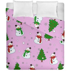 Snowman Pattern Duvet Cover Double Side (california King Size) by Valentinaart