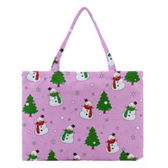 Snowman Pattern Medium Tote Bag by Valentinaart